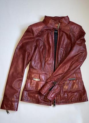 Куртка натуральная перфорированная кожа / кожанка