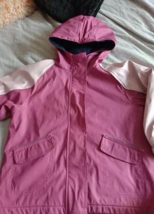 Куртка дождевик на флисе утепленая куртка дождевик