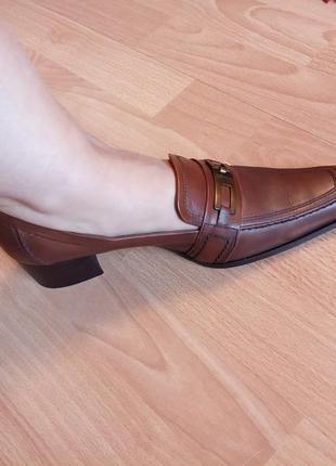 Германия,нереально красивые,стильные,кожаные туфли,туфельки,лоферы,широкий каблук