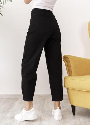 Черные широкие мом джинсы