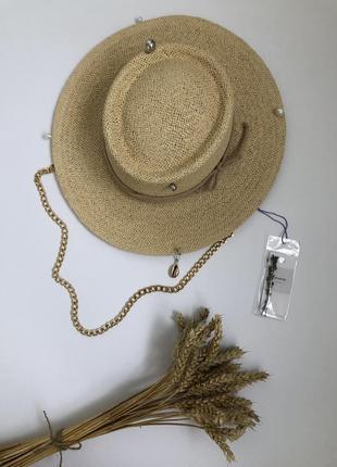 Шляпа шляпа из бумаги гамблер соломенная шляпа рафия солома фёдора