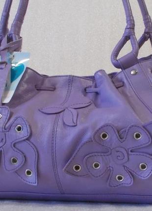 Летняя сумка *azure* натуральная кожа.