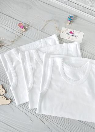 Белые маечки для девочек, фламинго, отличное качество!