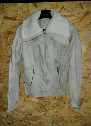 Демисезонная куртка-пилот, экокожа