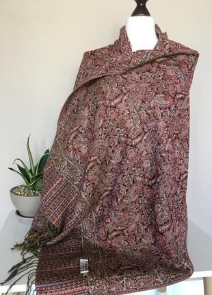 Винтажный шелковый палантин шарф платок шелк пашмина pashmina