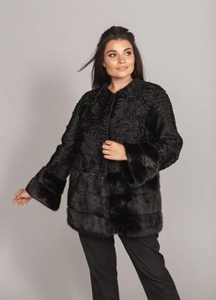 Норковая шуба пальто каракульча свакара эксклюзив италия
