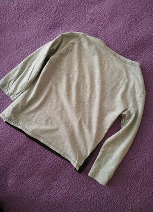 Красивая актуальная модная легкая кофта с рукавом  приятная к телу от h&m basic2 фото