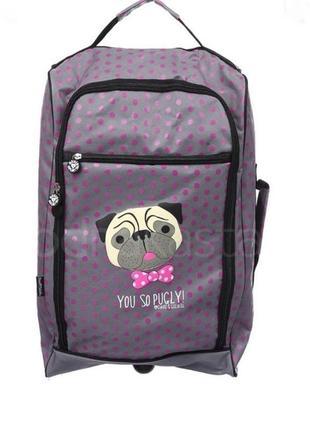 Распродажа! дорожная сумка на колесиках - чемодан с ручкой для женщины или девочки
