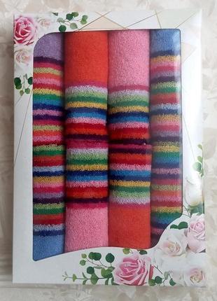 Набор махровых салфеток для кухни 8 шт 30х30 см разные цвета