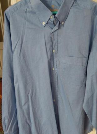 Котонова сорочка чоловіча великого розміру