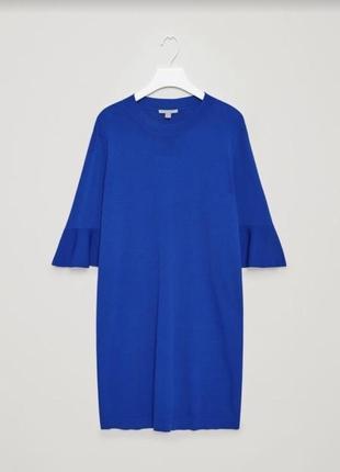 Новое платье электрик синий мини миди рукава клеш cos сукня плаття xs s