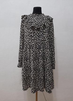 Стильное модное трендовое платье zara с рюшами большого размера