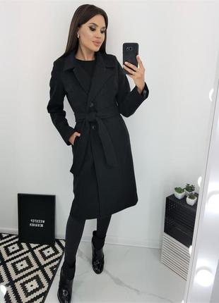 1795.    черное шерстяное пальто