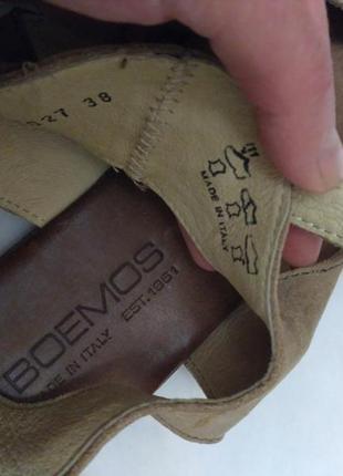 Итальянские кожаные босоножки boemos римские сандалии