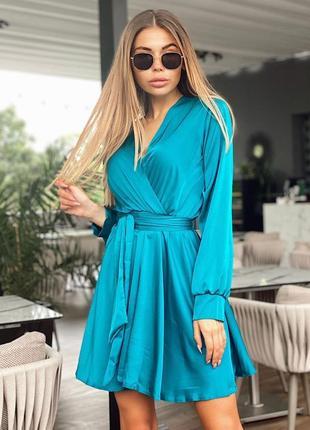 1798.    голубое вечернее платье из шелка