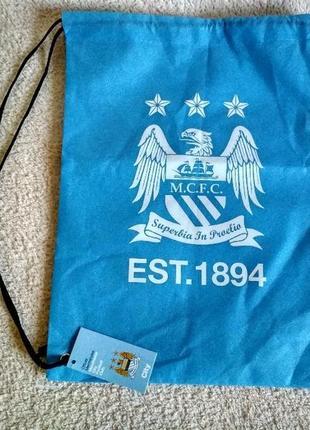 Сумка для обуви синяя  manchester футбол спорт