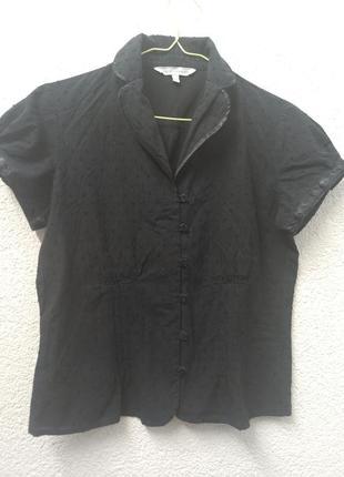 Милая черная блуза бренда laura ashley