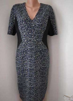 Новое осеннее элегантное платье с принтом linea
