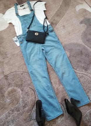 Крутезний джинсовий комбенизон track outfit2 фото