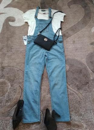 Крутезний джинсовий комбенизон track outfit3 фото