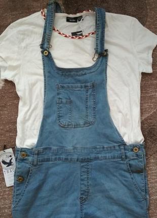 Крутезний джинсовий комбенизон track outfit4 фото