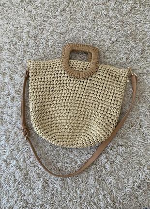 Плетённая сумка zara