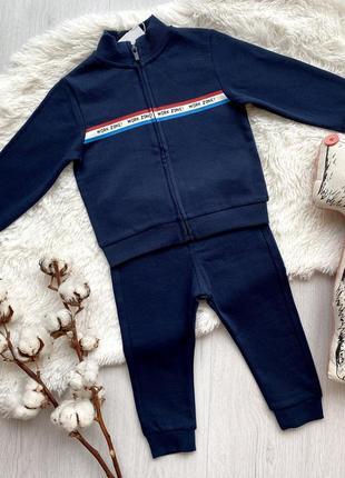 Трикотажный костюм набор кофта толстовка на замке и штаны для мальчика малыша ovs италия
