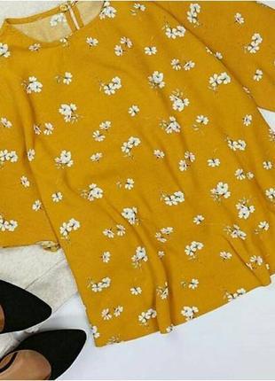 Милая горчичная блуза