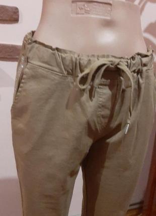 Хлопковые нарядные штаны брюки