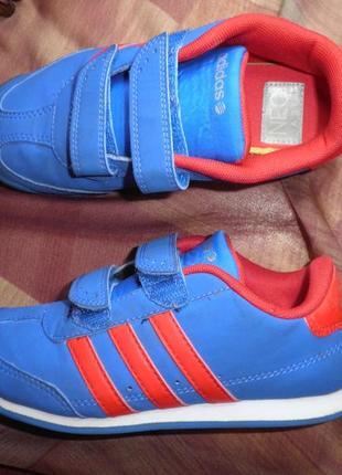Удобные кроссовки снейкерсы adidas neo на липучках стелька 19см