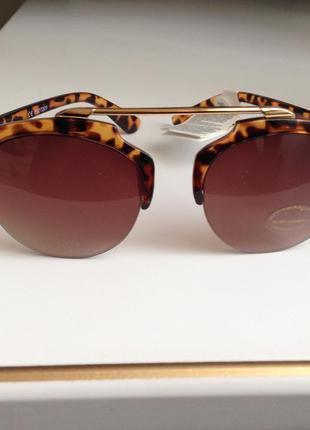 Трендовые очки женские солнцезащитные , новые (сток!!!!) с бирками с документами uv защита