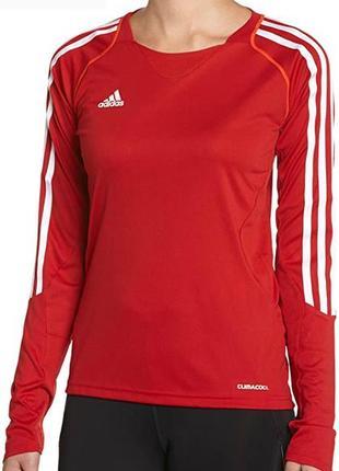 Adidas team climacool (голограмма) спортивная женская футболка с длинным рукавом