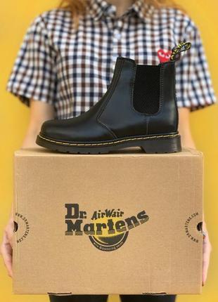 🔥ботинки dr. martens chelsea black, челси, мартинсы, чоботи демісезон