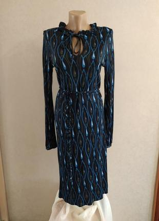 Allegra hicks великолепное вискозное платье от премиум-бренда, р.12, м-ка