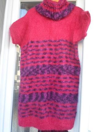 Кардиган.платье 54-56р-р.мохер 100%.hand made