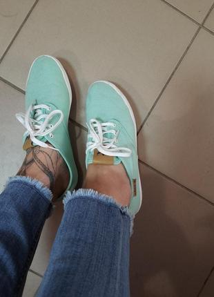 Тканевые кеды adidas мятного цвета стелька 25.5
