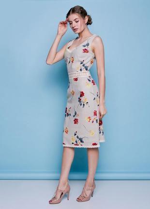 Льняное платье, размер xs