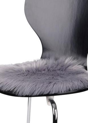 Меховая подушка на стул,кресло д.34 см,хутро на стілець