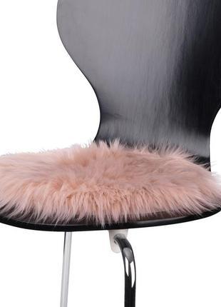 Меховая полушка на стул,креслр д.34 см,хутро на стілець