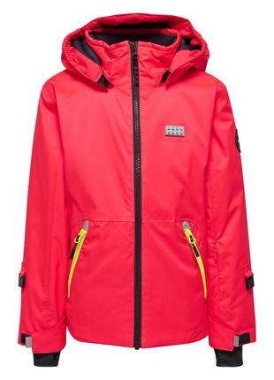 Зимняя лыжная мембранная куртка для девочки р.140-146 lego wear reima lenne columbia