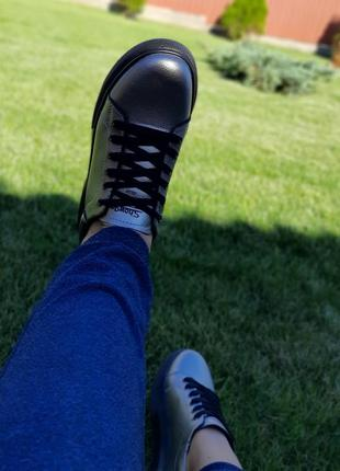 Крутые кеды кроссовки натуральная кожа6 фото