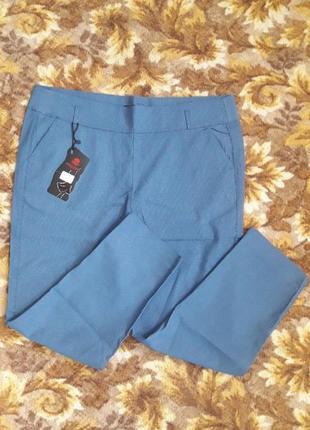 Нарядные офисные стильные брюки батал