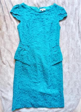Платье бирюзовое m&s, платье вечернее