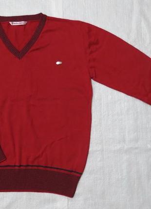 Качественный детский пуловер для мальчика красный (incity, турция)
