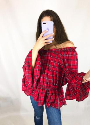 Шикарна блуза в клітинку!