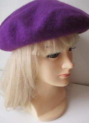 Беретка h & m p.s. фиолетовая шерсть. оригинал.