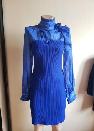 Платье синее  турция