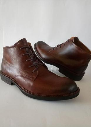 Кожание ботинки демисезон, оригинал от ecco, 45p