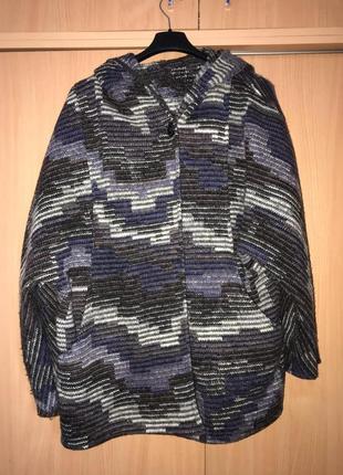 Zara стильный шерстяной кардиган жакет пальто куртка max mara  cos zara
