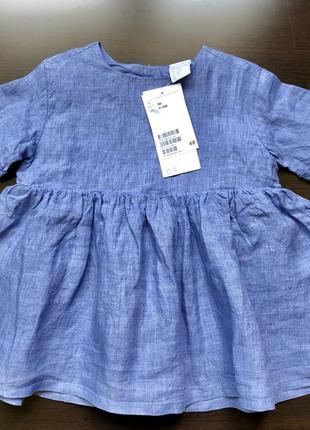Платье льняное h&m exclusive р.74/80